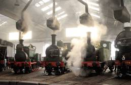 steam-locomotives-display-Roundhouse-Museum-Barrow-Hill-Derbyshire
