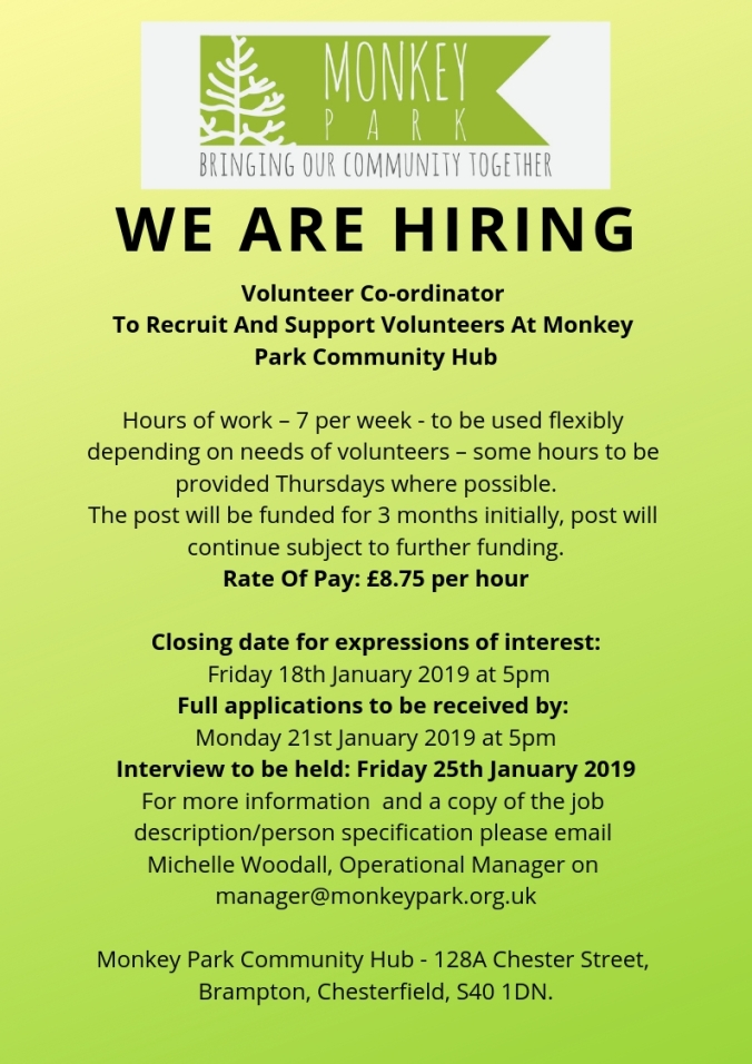 we are hiring poster volunteers