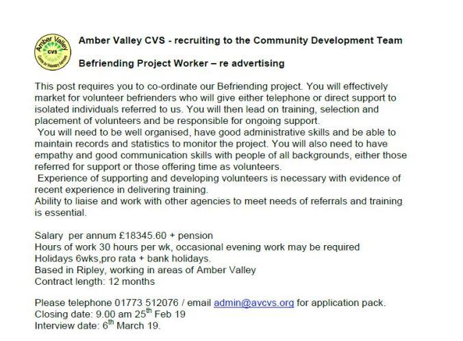 Befriending project Asst Jan19_